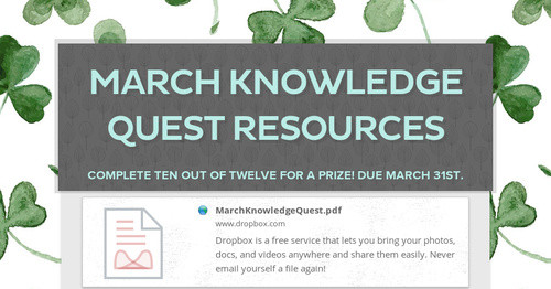 March Knowledge Quest Resources