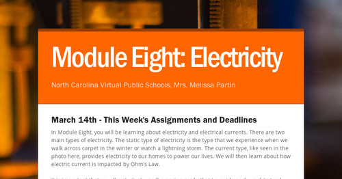 Module Eight: Electricity