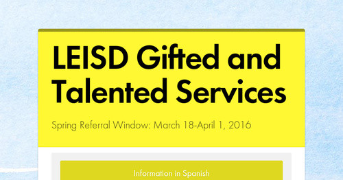 LEISD Gifted and Talented Services