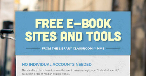 Free E-book Sites and Tools