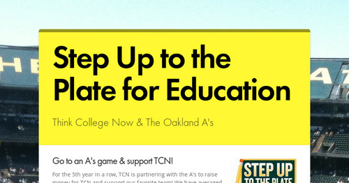 Step Up to the Plate for Education