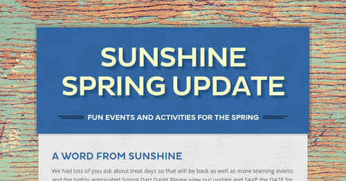 Sunshine Spring Update