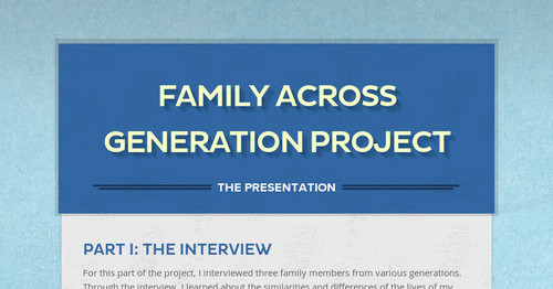 Family Across Generation Project