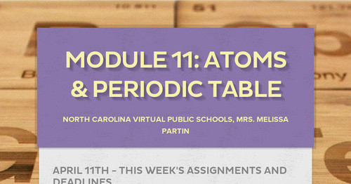 Module 11: Atoms & Periodic Table
