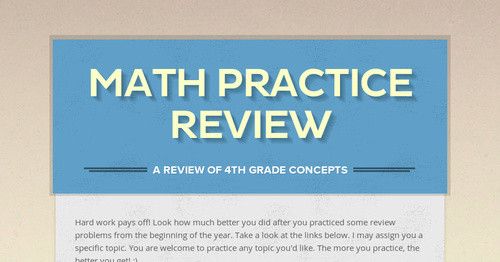Math Practice Review