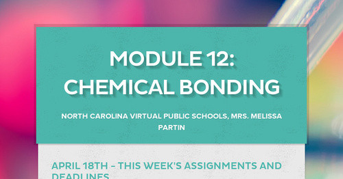 Module 12: Chemical Bonding