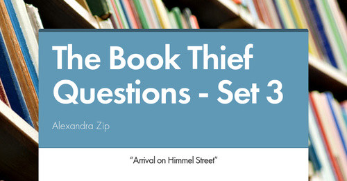 question 1 book thief After tearing pages from the book  1 educator answer the book thief why is  liesel the protagonist in the book thief an interesting question to answer it.