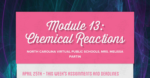 Module 13: Chemical Reactions