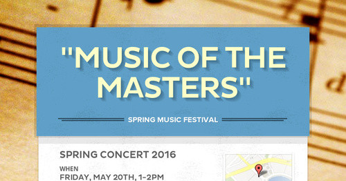 """Music of the Masters"""