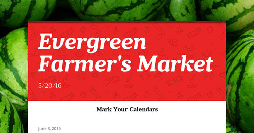 Evergreen Farmer's Market