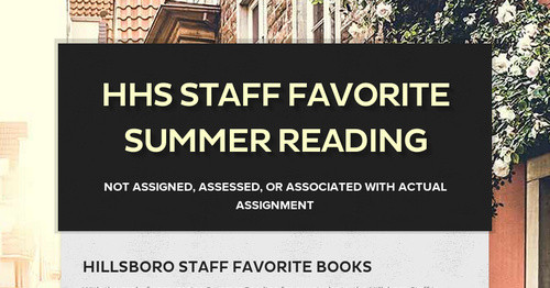 HHS Staff Favorite Summer Reading