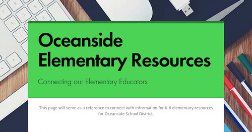 Oceanside Elementary Resources