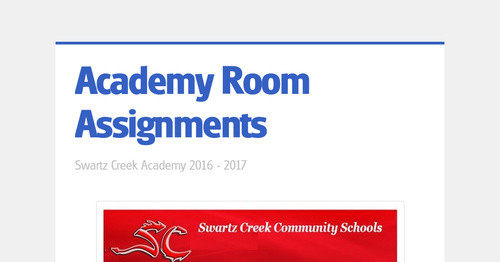 Academy Room Assignments