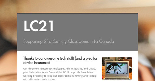 LC21 | Smore Newsletters for Education