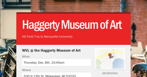 Haggerty Museum of Art