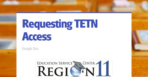 Requesting TETN Access