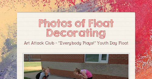 Photos of Float Decorating