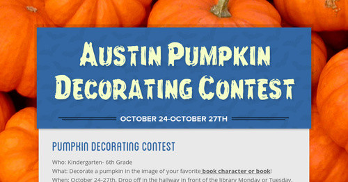Austin Pumpkin Decorating Contest