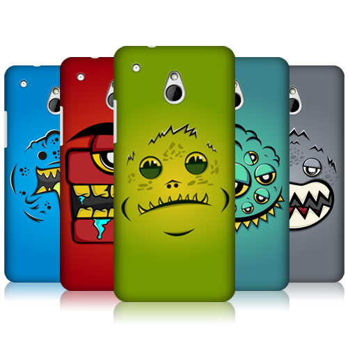 Head Case Alien Face Monsters Protective Hard Back Case Cover for HTC One Mini