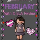 {Freebie}February themed Math and ELA Review