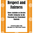 Respect, Fairness and Friendship Activities