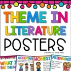 Theme in Literature Poster Set - 9 Common Themes - 2 Poster Styles