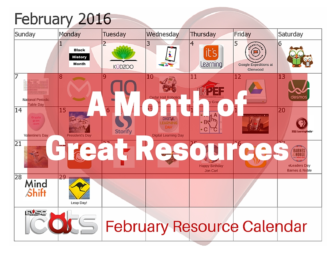 February Digital Resource Calendar | EVSC ICATS