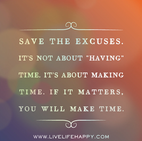 A Principal's Reflections: Making Time vs Finding Time