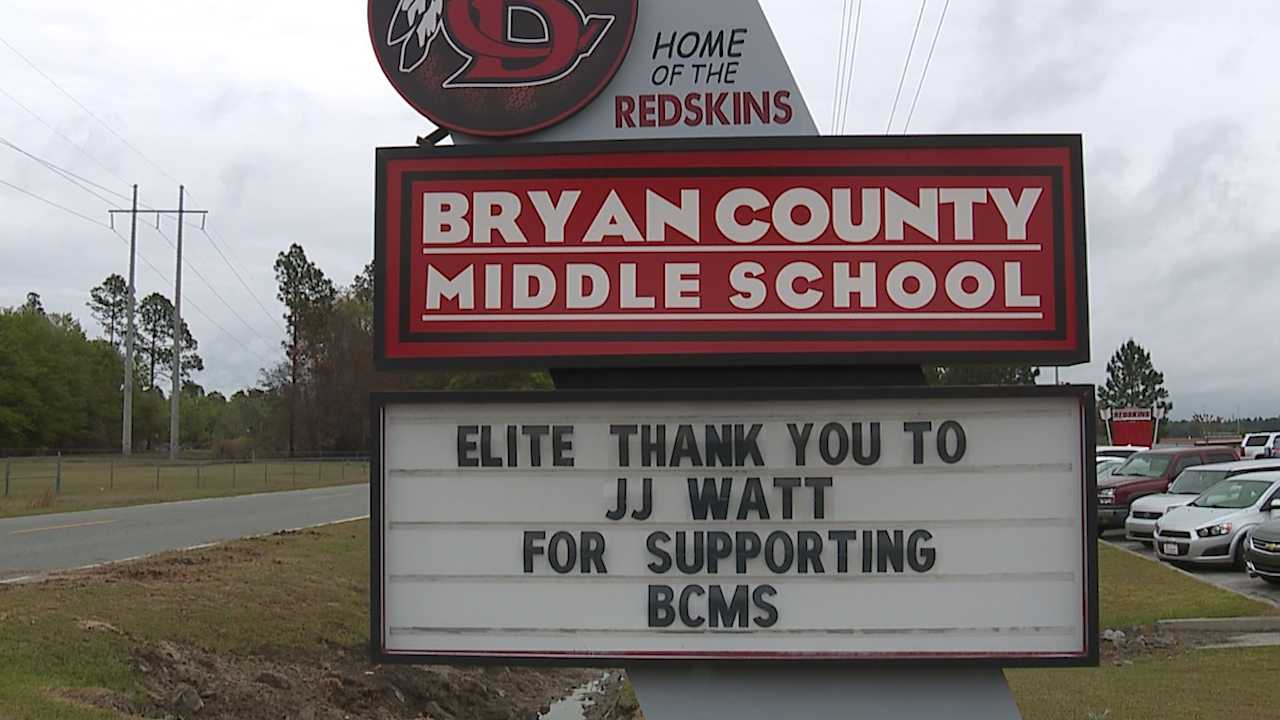 JJ Watt Foundation donating uniforms and equipment to Bryan Co. Middle School