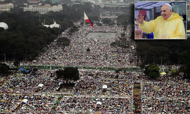 Pope Francis says Mass to 6million in Manila