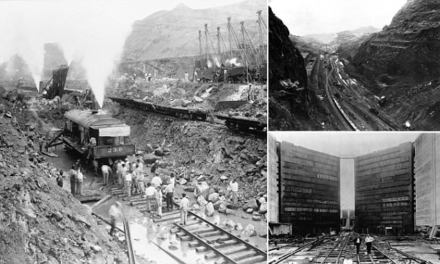 Incredible pictures that show the construction of the Panama Canal