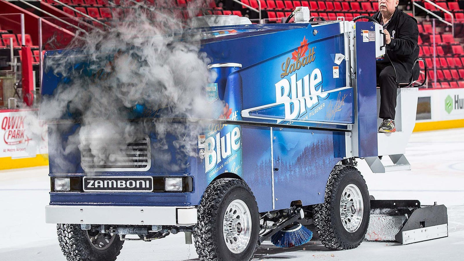 Zamboni Jams Up After Running Over Large Patch Of Loose Teeth