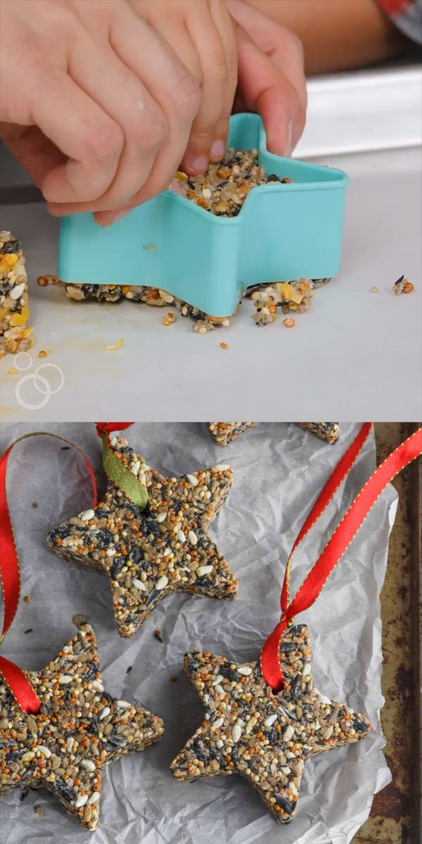 Such a fun easy craft to do with kids. Makes a great #Christmas gift! #diygift #diykids [Video] (With videos) | Fun easy crafts, Homemade bird feeders, Christmas crafts for kids