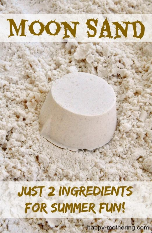 2 Ingredient DIY Moon Sand Recipe | Diy moon sand, Sands recipe, Moon sand