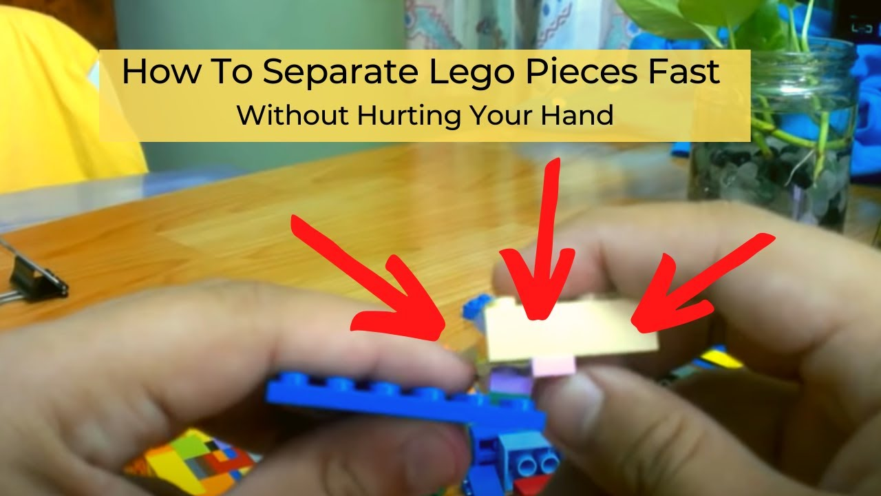 How to separate 2 stuck Lego bricks WITHOUT the separator