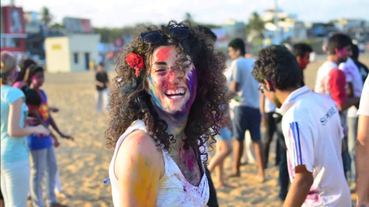 Holi celebrations 2015 with International interns | AIESEC