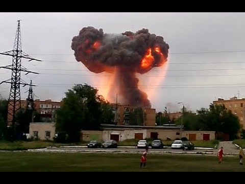 Video: Strong explosions rock ammo depot storing millions of shells in Russia