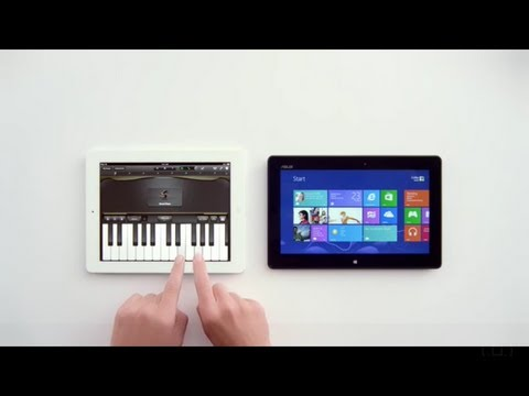 Is iPad Only For Playing Piano?!!!!! - Windows 8 Tablet vs Apple iPad [HD]