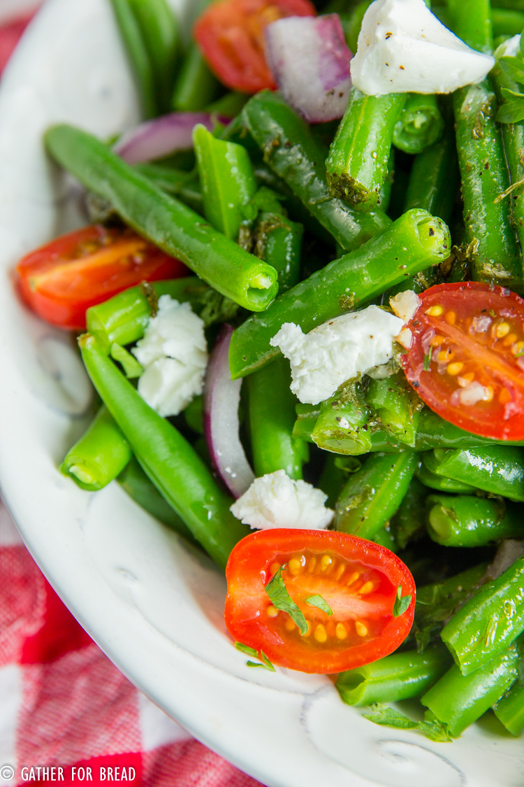 Cold Green Bean Salad - Gather for Bread
