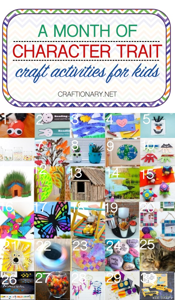 Character trait crafts activities for a month with kids - Craftionary