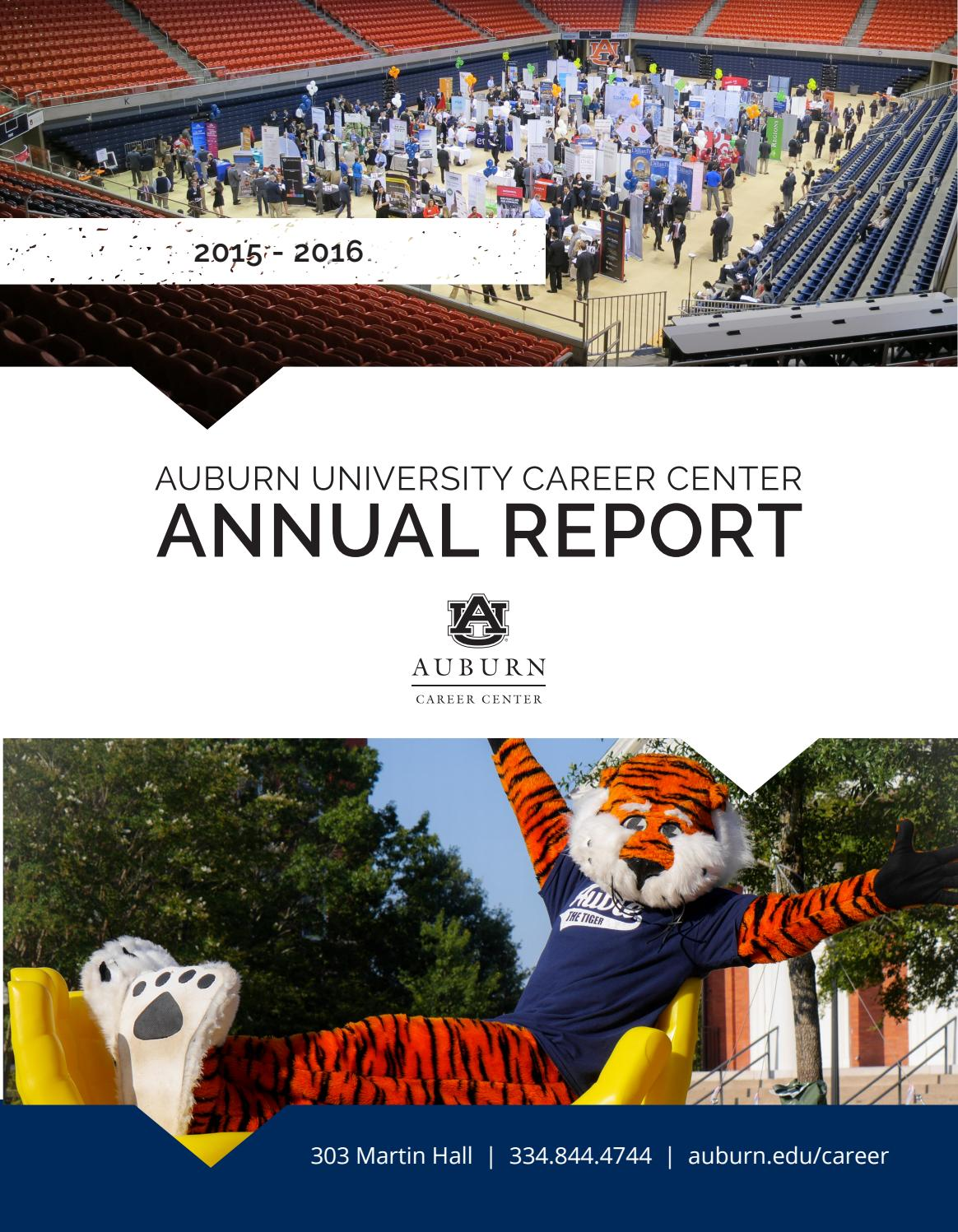 Auburn University Career Center Annual Report (2015-2016)