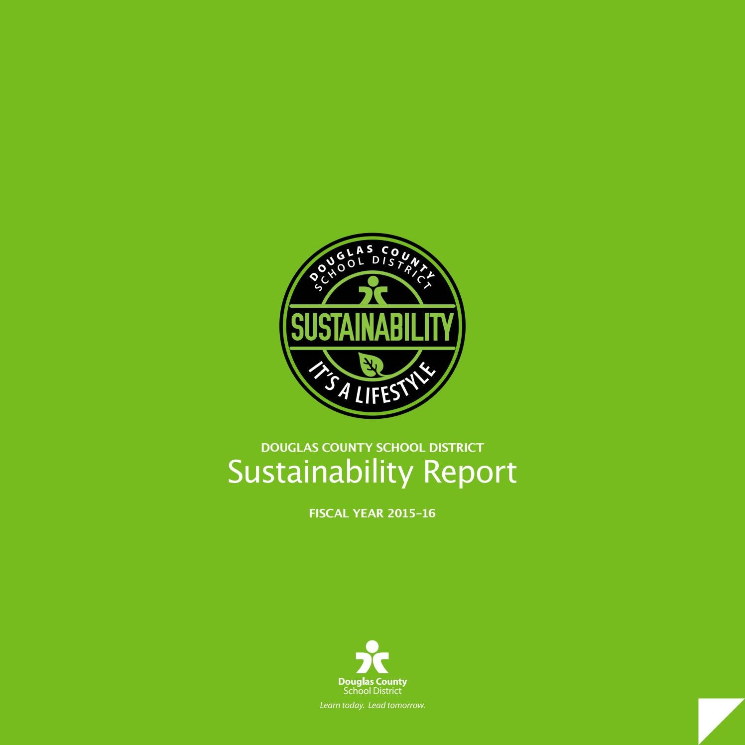 2015-16 DCSD Sustainability Report