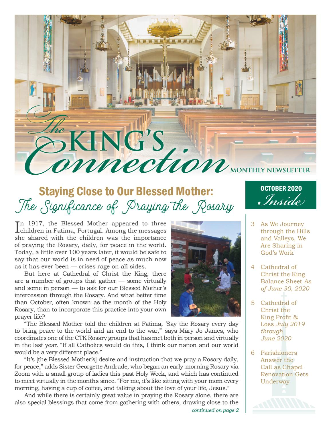 Cathedral of Christ the King Newsletter — October 2020