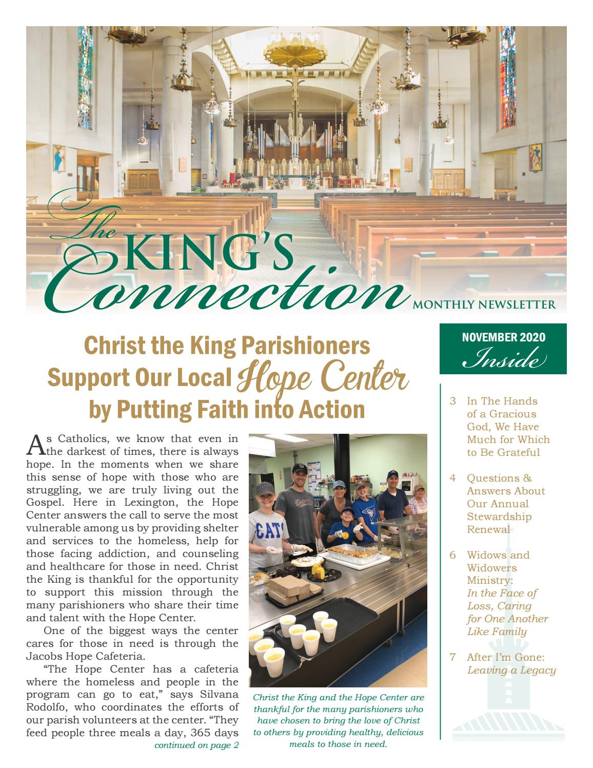 Cathedral of Christ the King Newsletter — November 2020