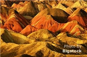 Zhangye Danxia Landform Geological Park, Chinese Rainbow Mountains in Zhangye