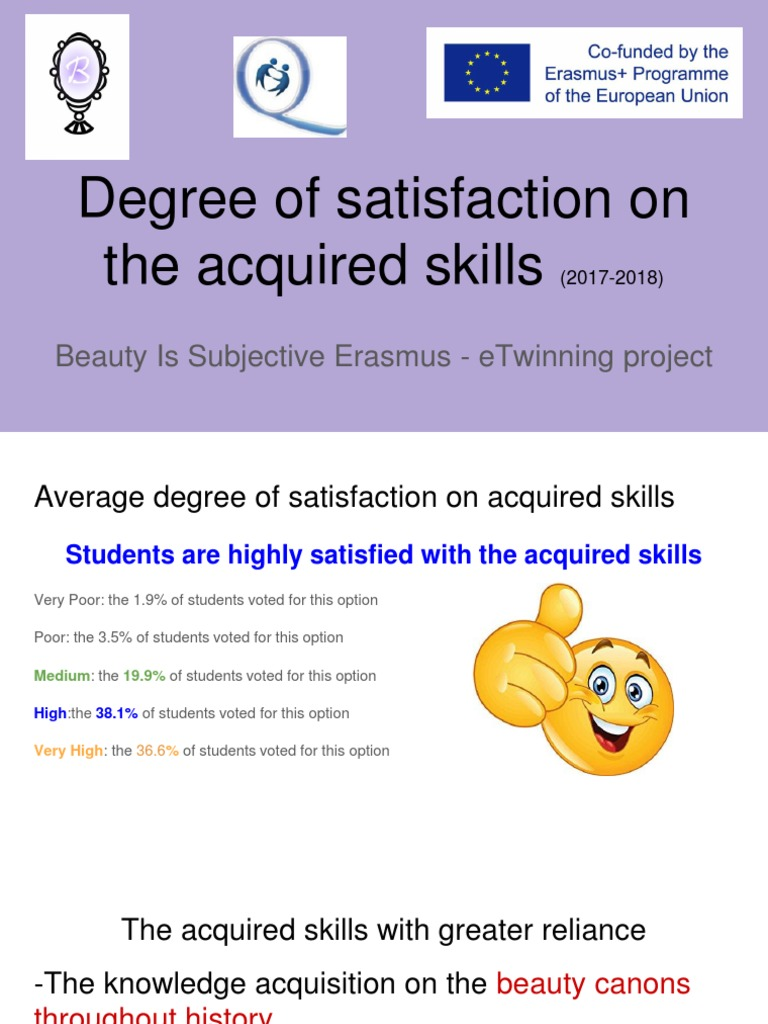 BIS Erasmus Project Student Degree of Satisfaction on the Acquired Skills (2017-2018) | Vocabulary | First Language