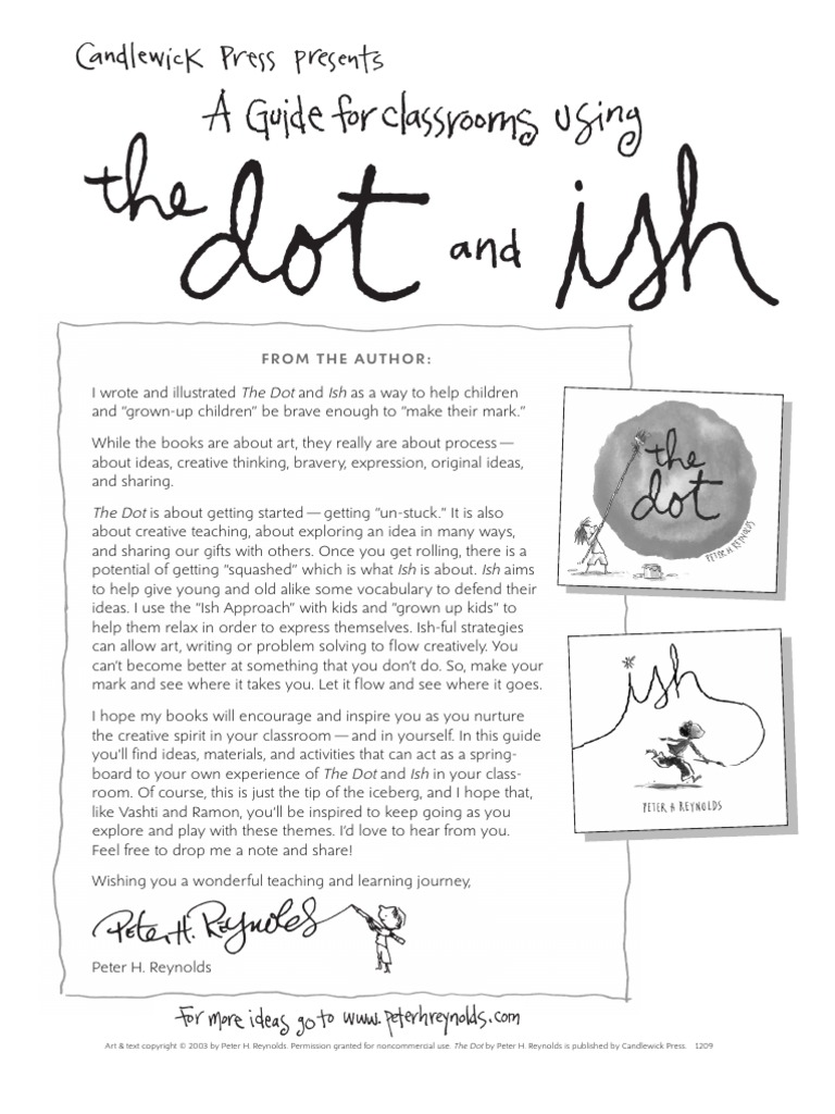 Classroom Guide: The Dot and Ish by Peter H. Reynolds | Poetry | Copyright