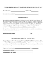 UP Lax liability form