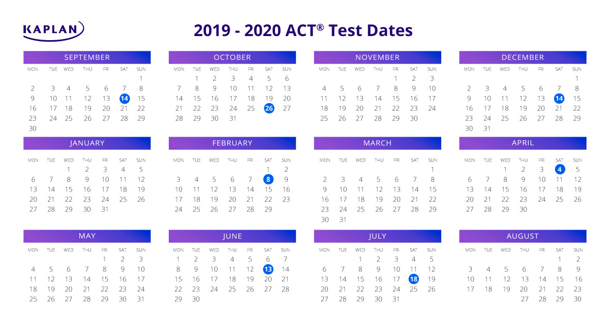 ACT Test Dates and Registration