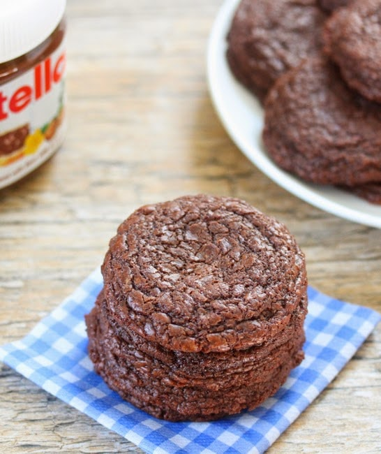 4 Ingredient Chewy Nutella Cookies